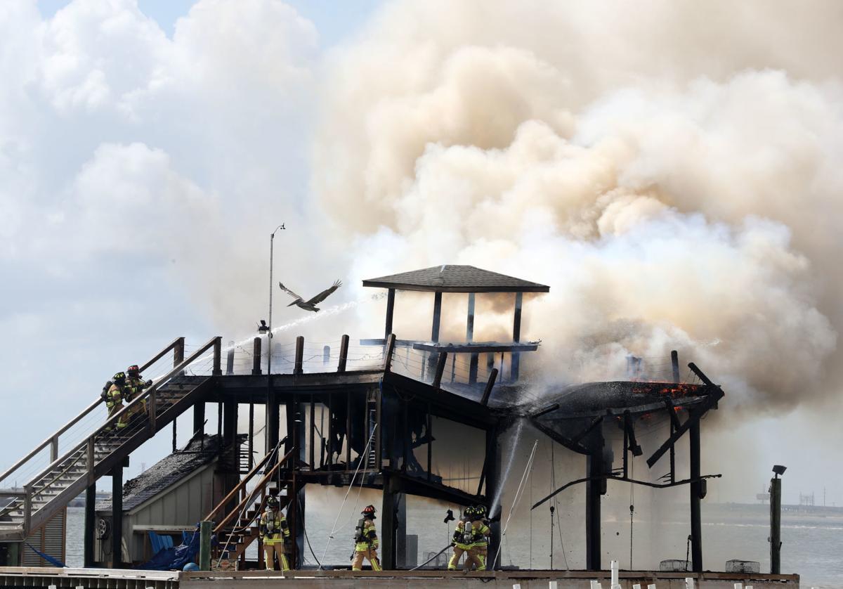 Dock fire