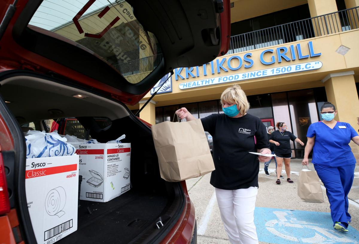 People help restaurants by feeding health care workers