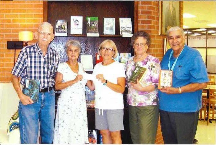 Ball High School library receives donation