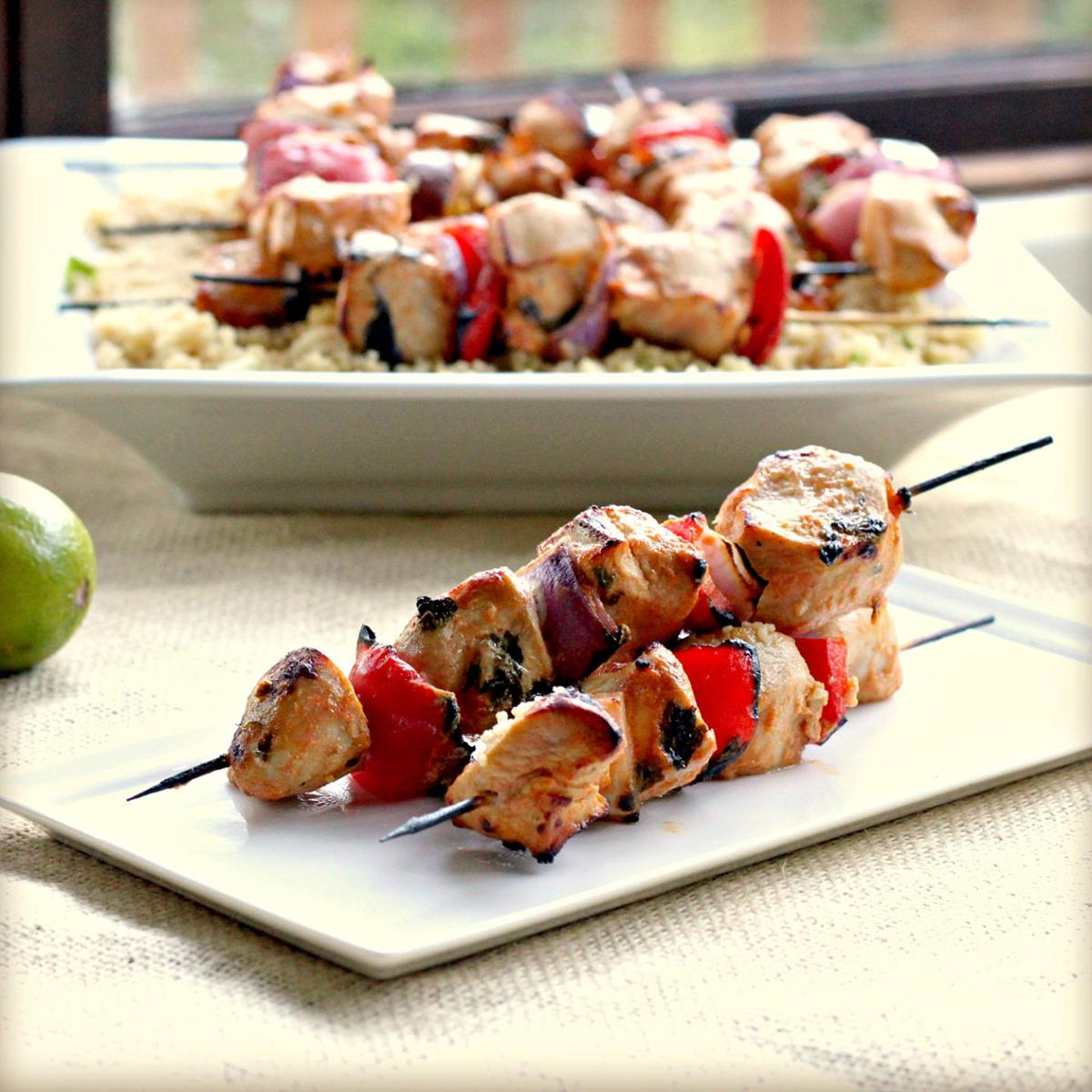 Grilled Chicken Skewers With Sriracha-Lime Marinade