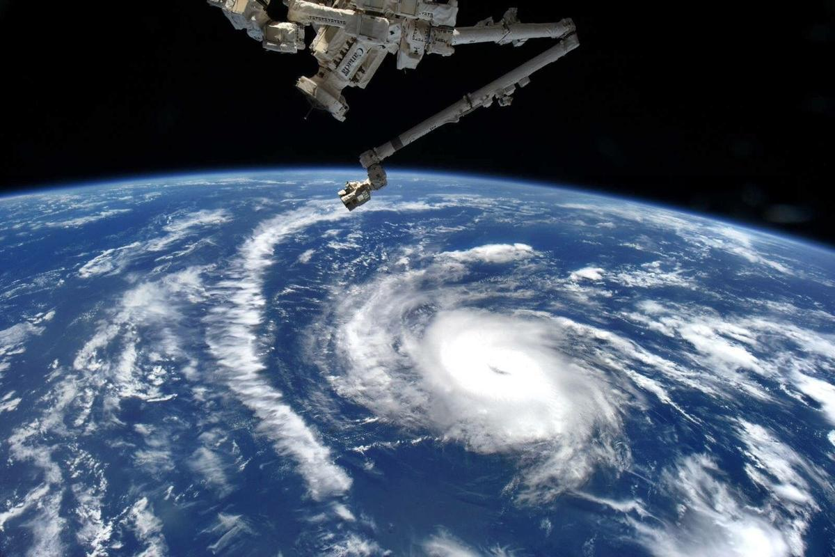 Hurricane Danny from space