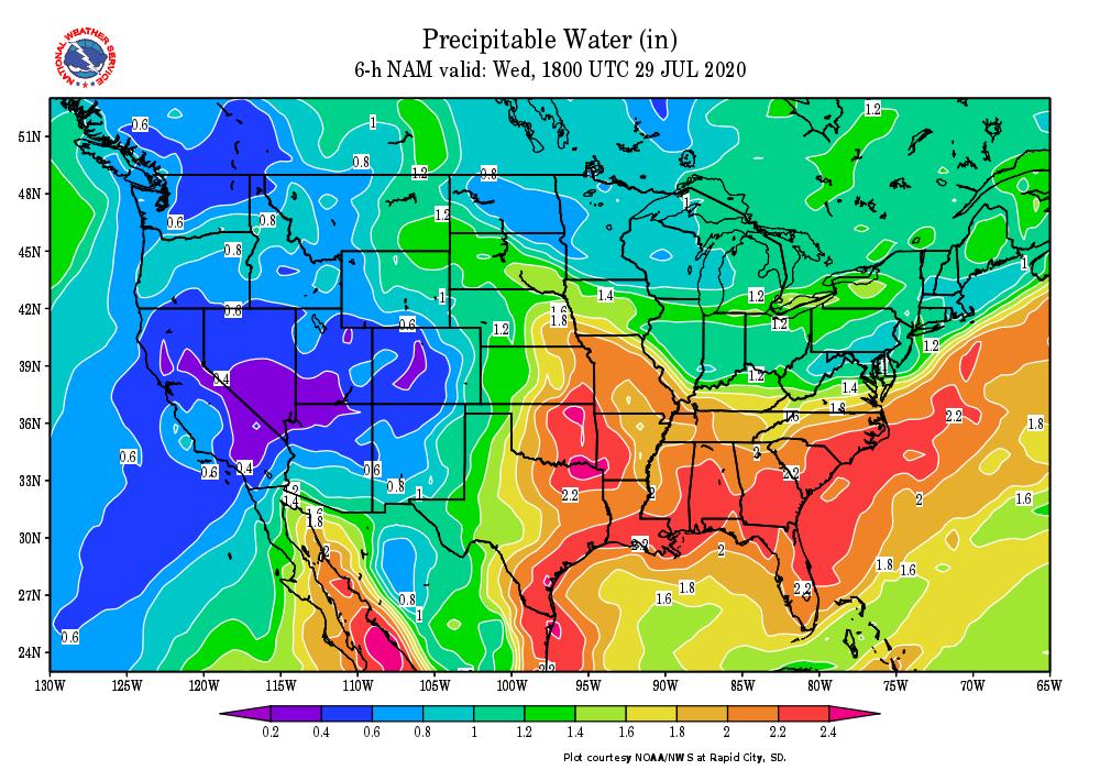 Precipitable Water 6H