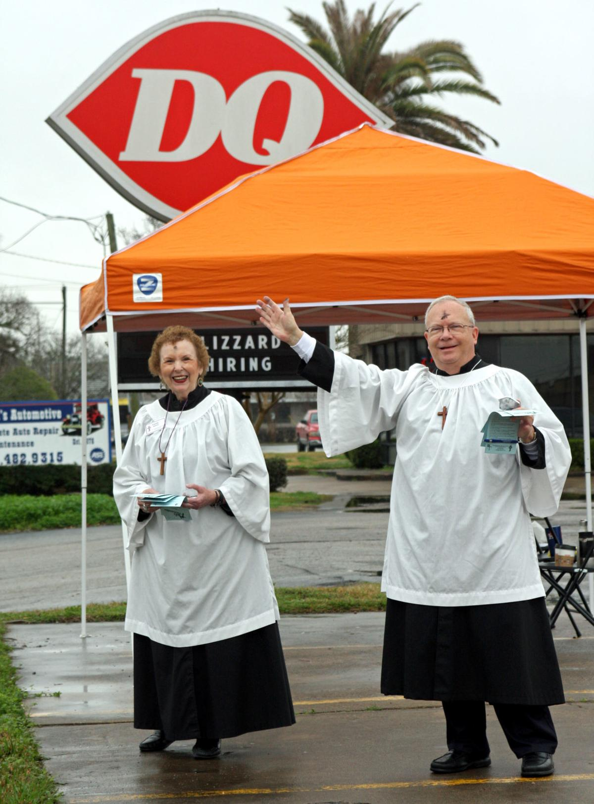 Ashes to go at Friendswood Dairy Queen