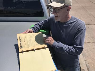Bill Hall and his collection of The Surf Report