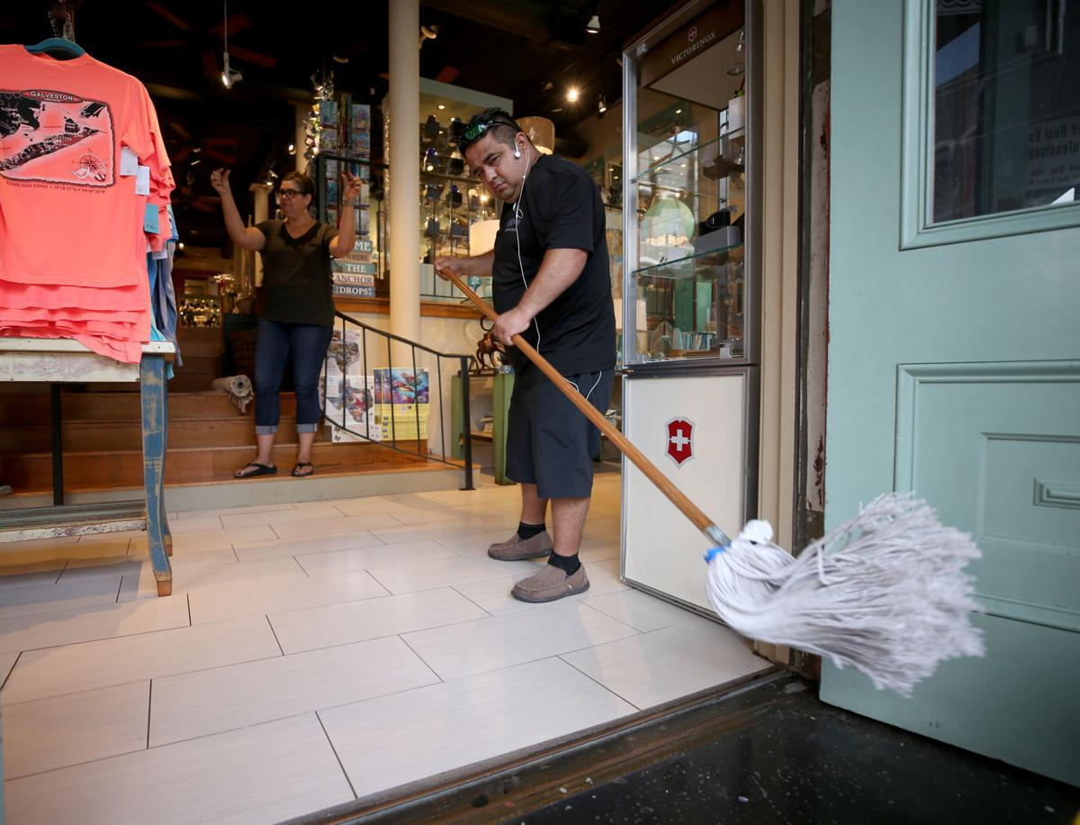 Downtown businesses clean up after Imelda