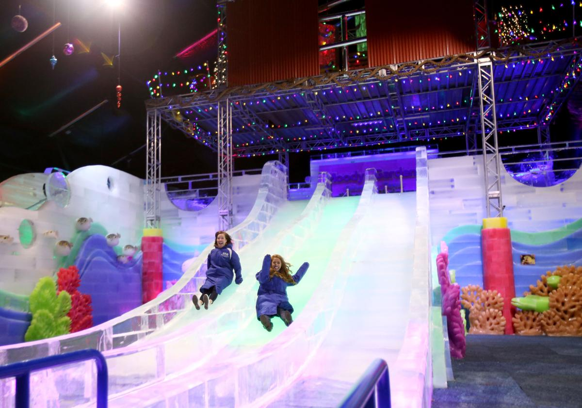 Moody gardens ice land opens news the daily news - Moody gardens festival of lights 2016 ...