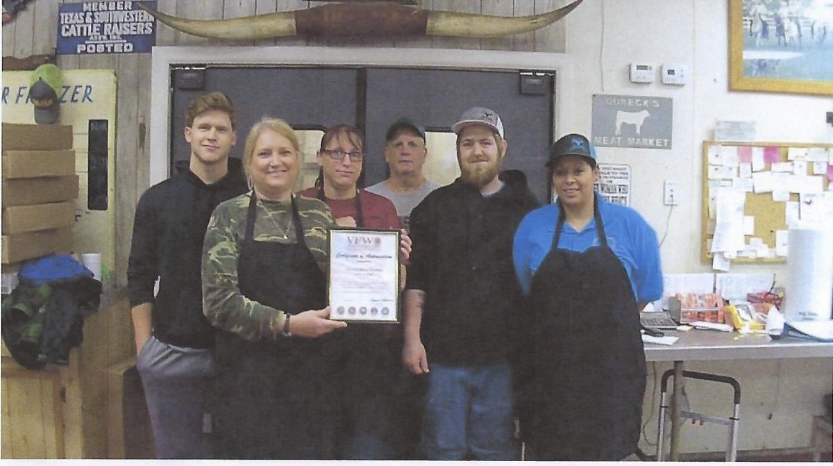 VFW Post No. 6378 presents certificate of appreciation
