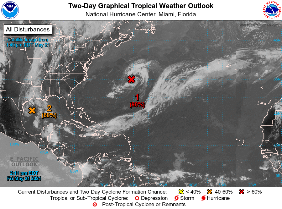 Five-Day Tropical Outlook