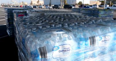 Bottled water distributed to residents