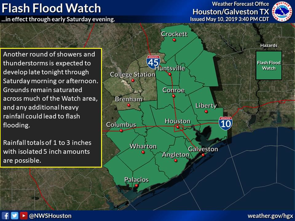 Flash Flood Watch issued 3:40 PM May 10