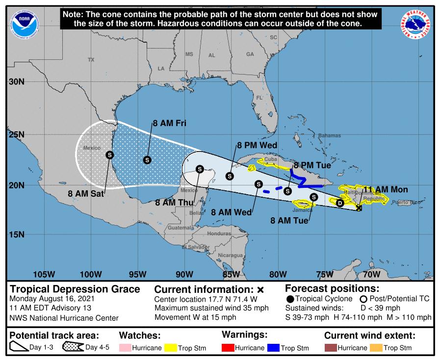 Tropical Depression Grace
