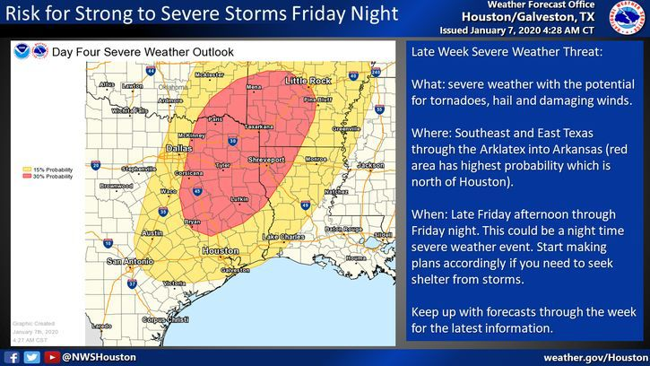 Risk for Strong to Severe Storms Friday Night