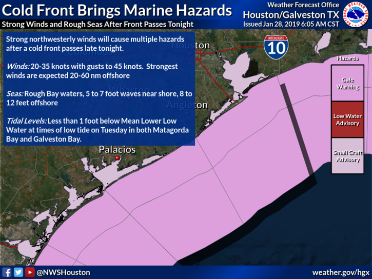 Cold Front Brings Marine Hazards
