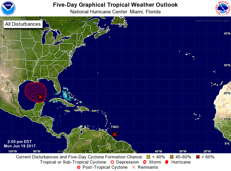 5-Day graphical tropical weather outlook