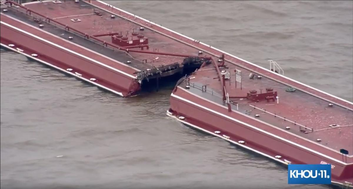 Two barges collide in Houston Ship Channel | Local News | The Daily News