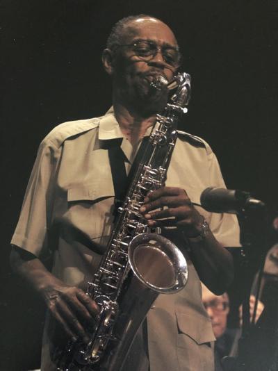 Frederick C. Tillis playing saxophone