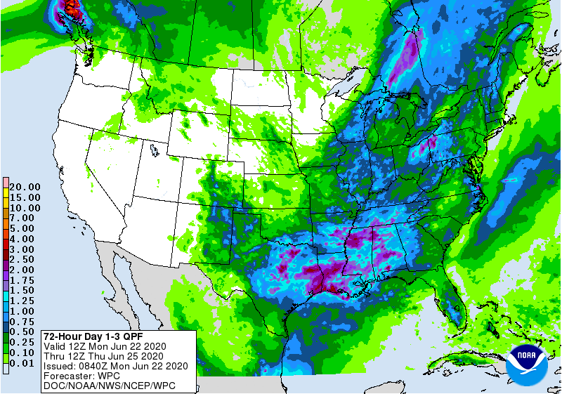 72 Hour Day 1-3 QPF