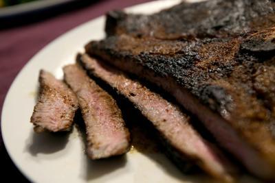 Sugar crusted steak