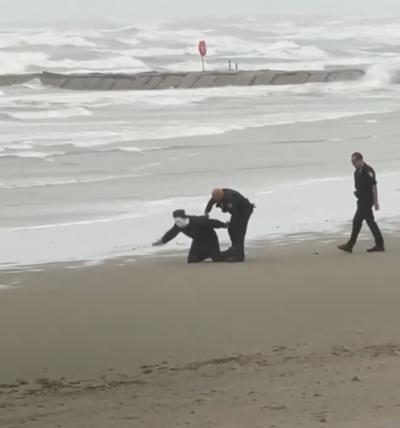 Galveston arrest on the beach