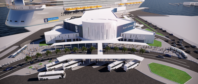 Port of Galveston Cruise Terminal Rendering