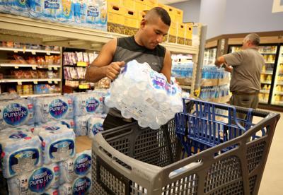 Island prepares for Hurricane Harvey