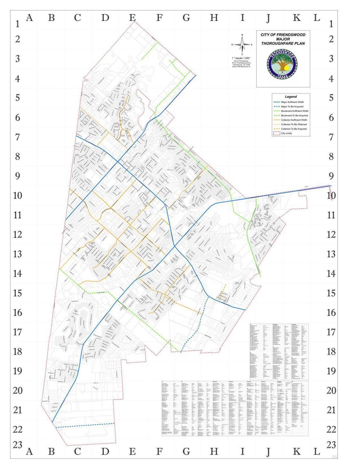Friendswood Major Thoroughfare Plan