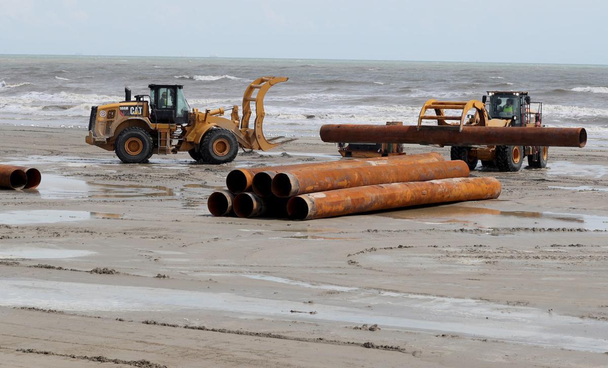 Beach rebuilding project