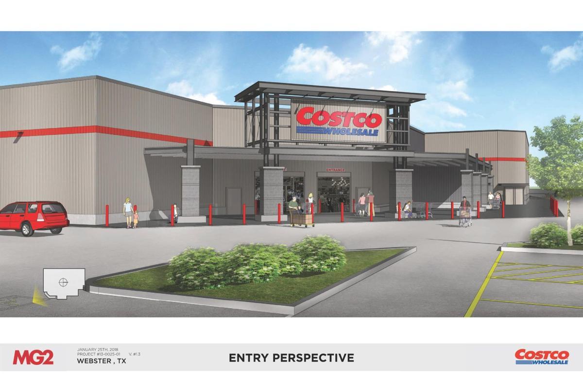 Front Costco store rendering
