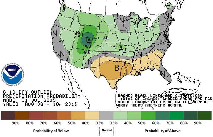 6-10 Day Precipitation Probability Outlook