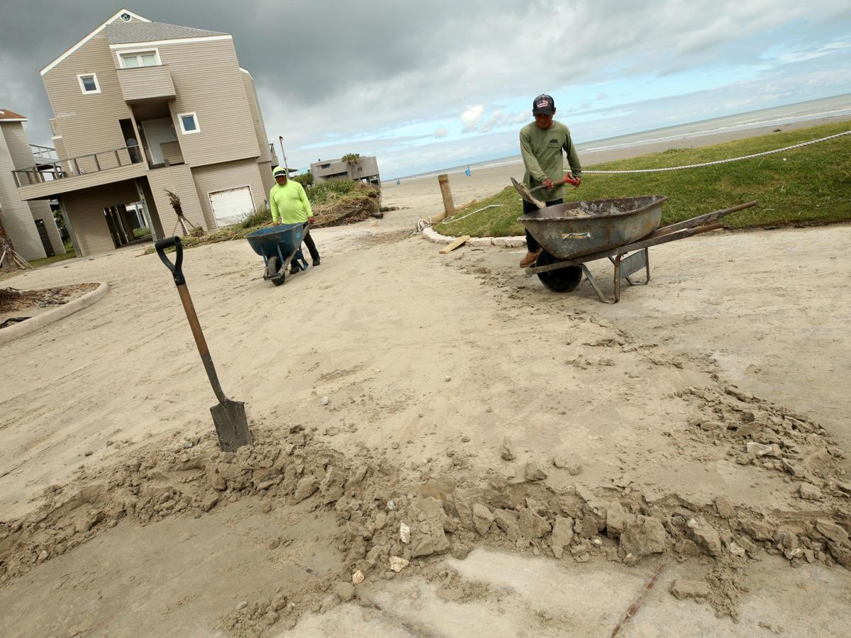 Hurricane Nicholas gives Galveston's West End beaches another battering