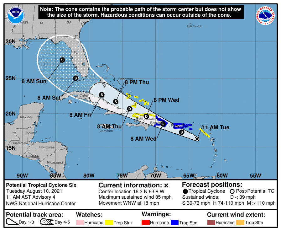 Potential Tropical Cyclone Six