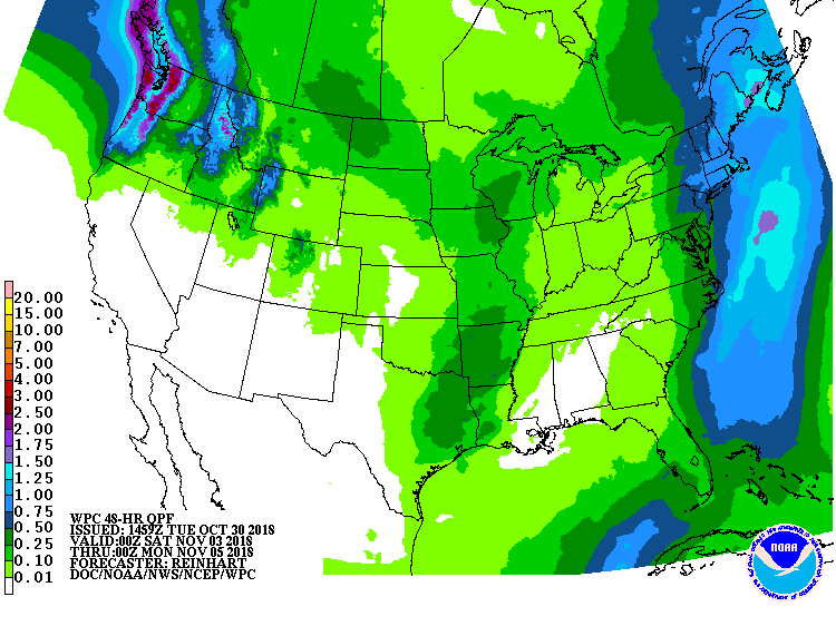 Precipitation outlook in 4-5 days