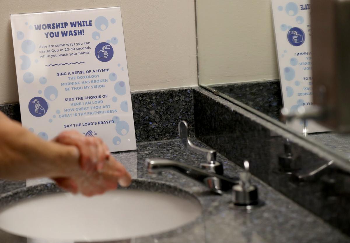 Handwashing at Moody Methodist