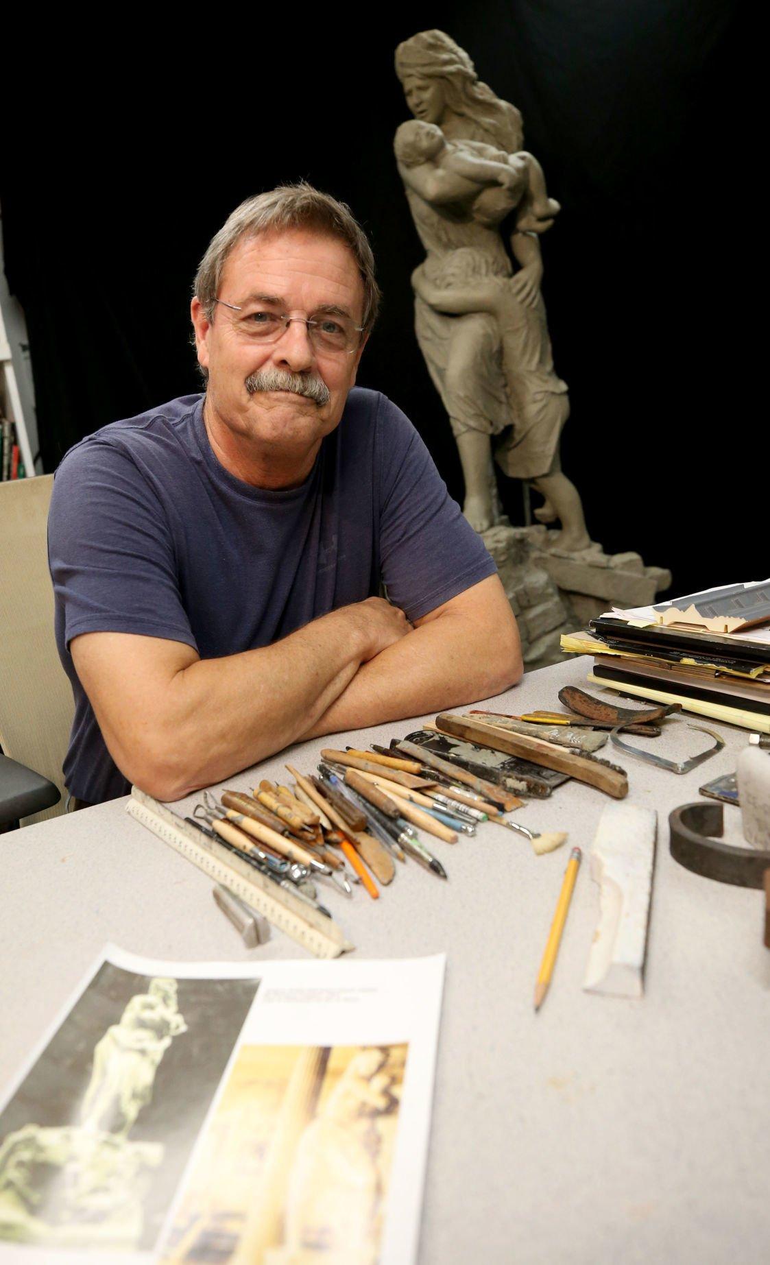 Island scuptor re-creating lost Coppini statue