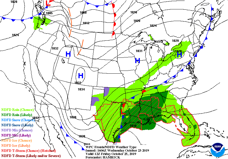 WPC Fronts/NDFD Weather Type