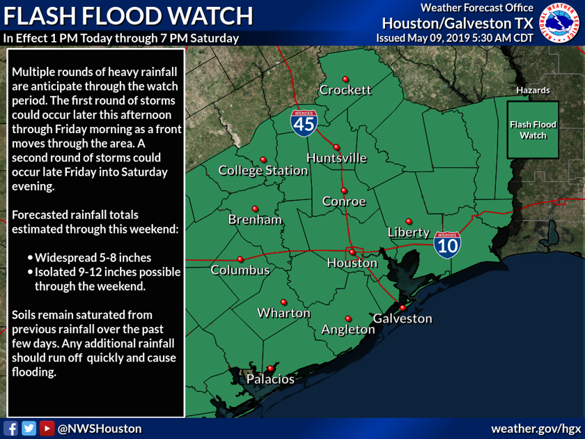 Weather Watch: Flash flood watch expected Thursday afternoon