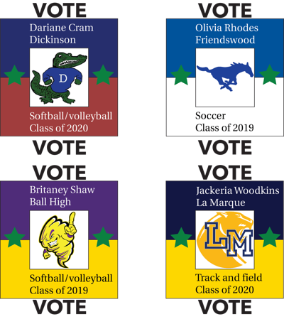 Who should be the 2018-19 Galveston County girls athlete of the year?