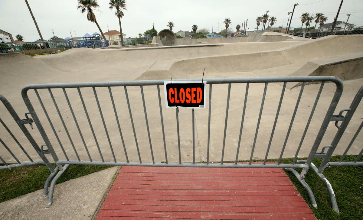 Playgrounds, skate park closed