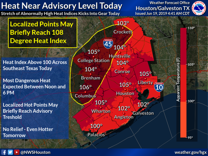 Heat Near Advisory Level Today
