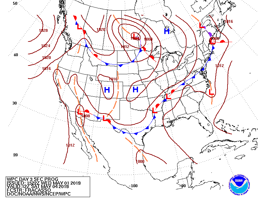 Day 3 Fronts/Pressures