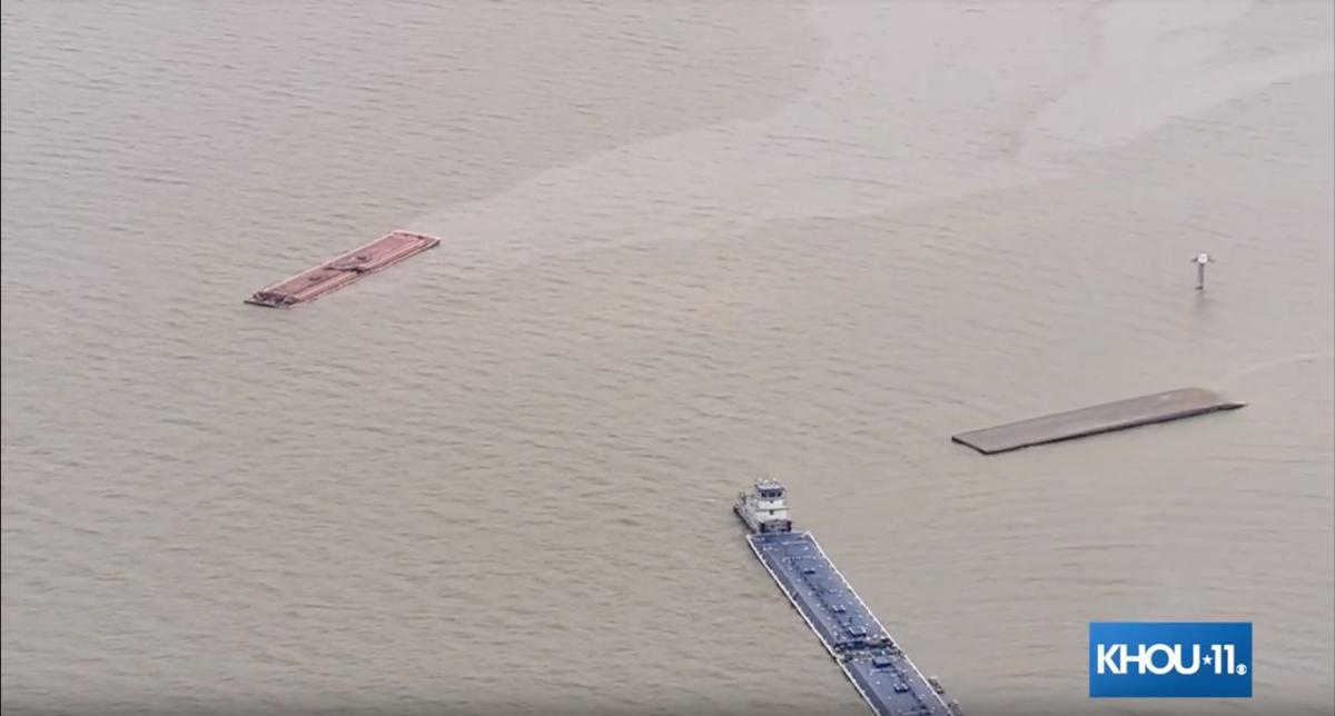 Two barges collide in Houston Ship Channel | Local News