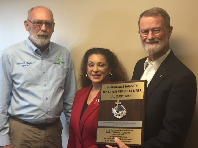 Bayou Vista receives commemorative plaque