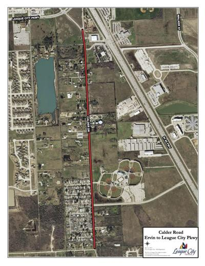 League City council approves $8.2 million Calder Road ... on van alstyne map, ferris state university campus map, north cleveland map, n dallas map, spring map, memorial map, mercedes map, lumberton map, orange map, south houston map, university of texas at austin map, needville map, southside place map, raymondville map, west u map, lajitas map, diboll map, galveston college map, cedar bayou map, harris county map,
