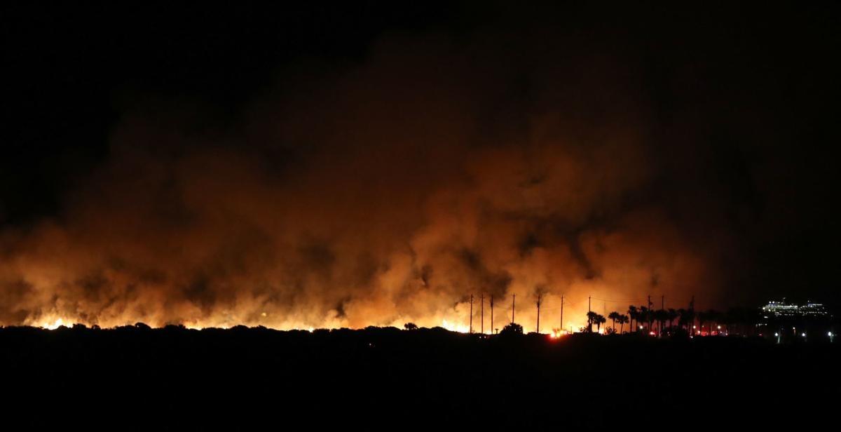 Fire at East Beach
