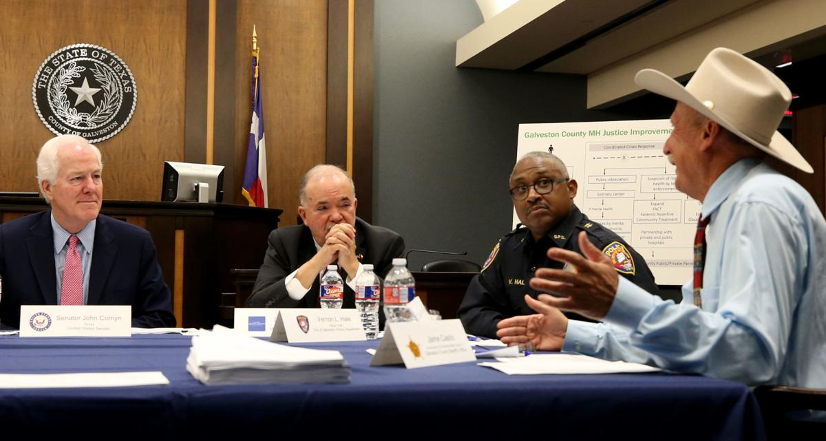 Cornyn meets with county officials on mental health treatment