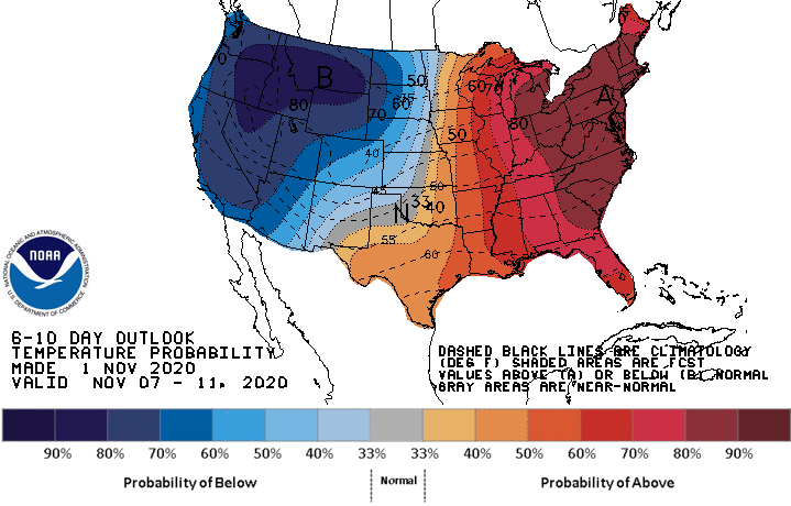 6-10 Day Temperature Probability Outlook