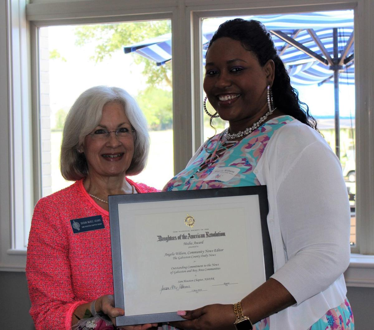 Angela Wilson honored with media award