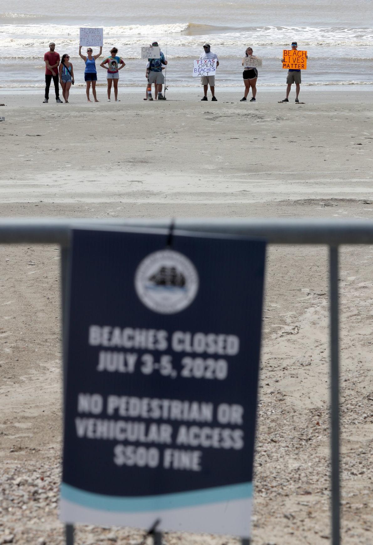 Beach closure prompts protest