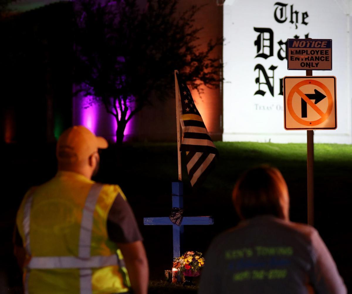 Vigil for wrecker driver