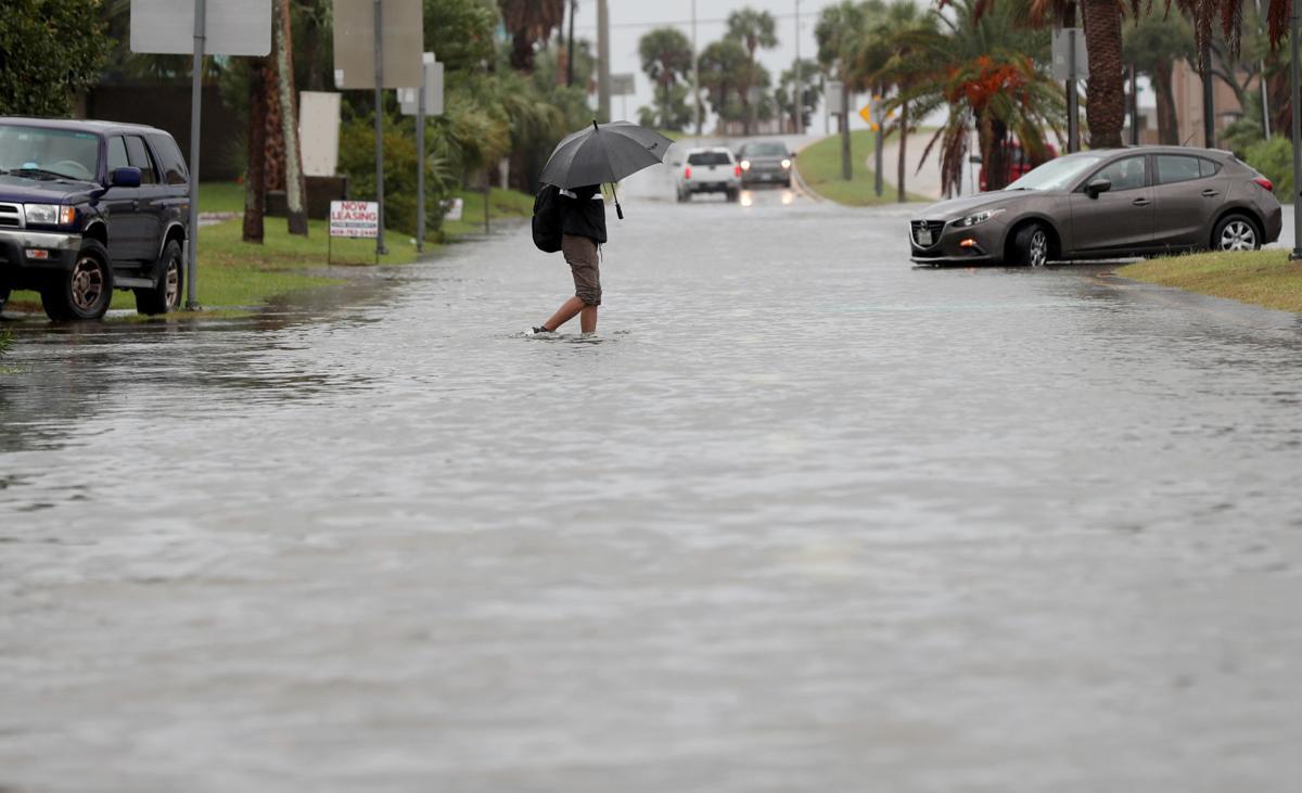 Morning storm floods island